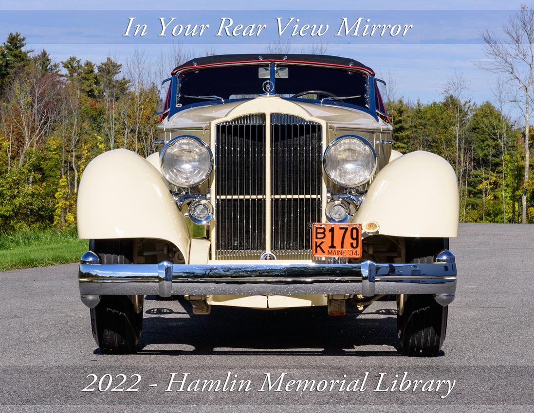 Calendar cover- 1934 Packard 1106 (Twelve) Runabout Speedster by LeBaron